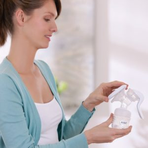 brystpumpe manuell