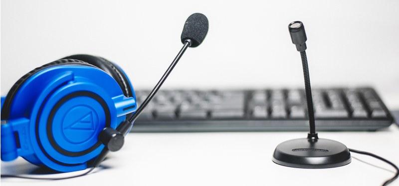 gaming headsettet microfon